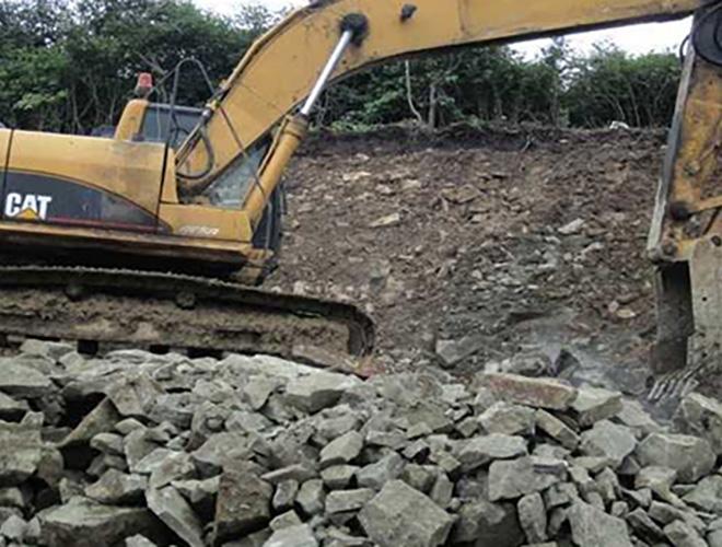 Доставка скального грунта